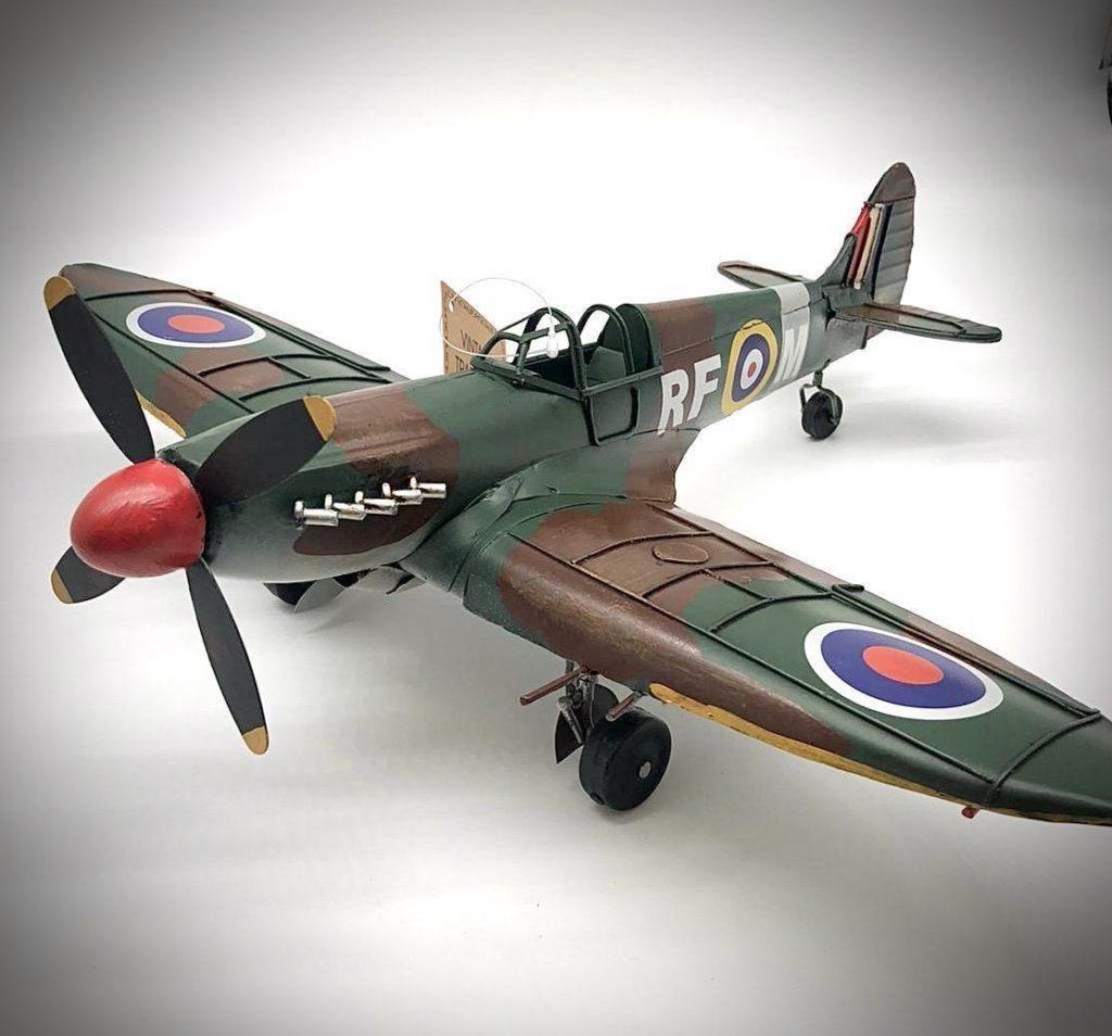 Vintage Tin Plate Spitfire Plane